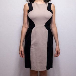 BCBG MaxAzria Black and beige dress